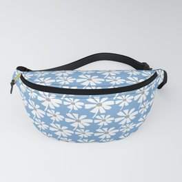 Daisies In The Summer Breeze - Blue Grey White Fanny Pack