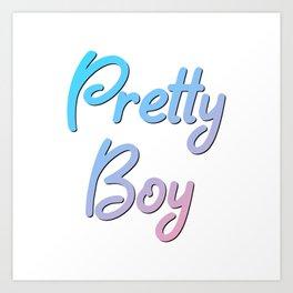 Pretty Boy | Blue & Pink Art Print