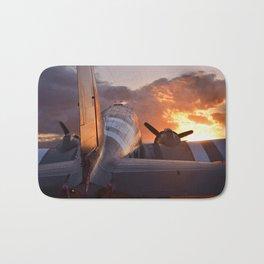 Douglas C-47  sunset Bath Mat