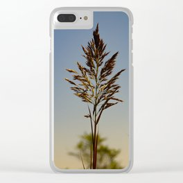 Marsh Grass Clear iPhone Case