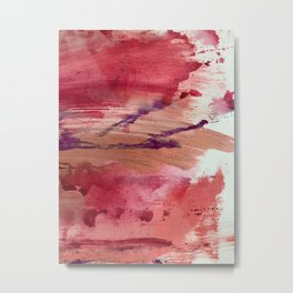 Blushing [4]: a vibrant, minimal abstract in pink, red, and purple Metal Print