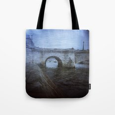 Paris Bridge & Seine Holga Double Exposure Tote Bag