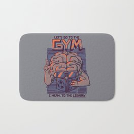 Let's go to the gym Bath Mat
