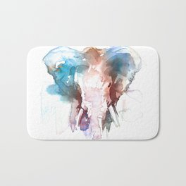 Elephant head / Abstract animal portrait. Bath Mat