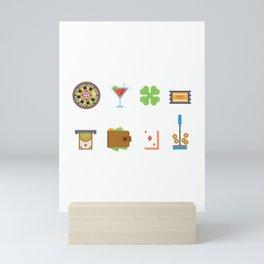 Partying, Poker & Money Nevada Day Mini Art Print