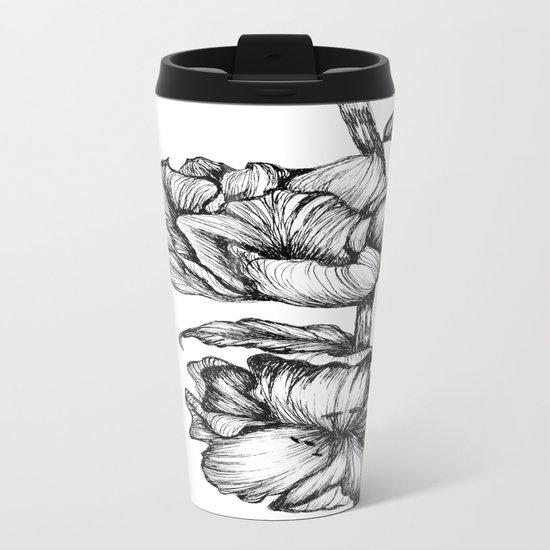 Floral Ink II Metal Travel Mug