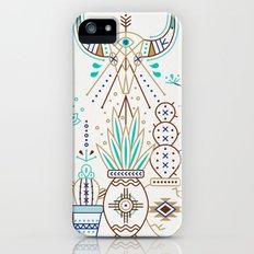 Santa Fe Garden – Turquoise & Brown iPhone SE Slim Case