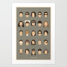 25 FACES OF TOM C Art Print