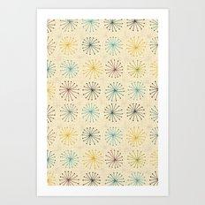 seedheads cream Art Print