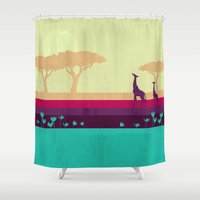 safari Shower Curtains featuring Safari by Kakel