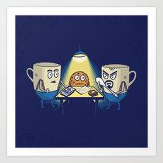 Good cup, bad cup Art Print