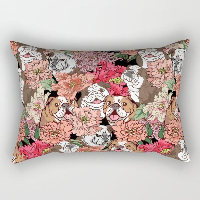 Because English Bulldog Rectangular Pillow