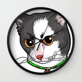 Japanese Bobtail Cat Face Cats Love Comic Funny Wall Clock