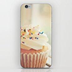 VANILLA CUPCAKE PHOTOGRAPH iPhone & iPod Skin