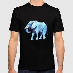 Elefante Blu MEDIUM Mens Fitted Tee Black