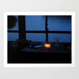 Butter Candle on Golden Pond  Art Print