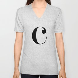 "Monogram Series Letter ""c"" Unisex V-Neck"