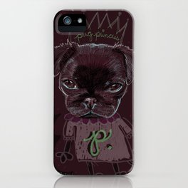 Pug Princess iPhone Case