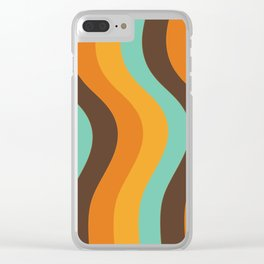 70s pattern Clear iPhone Case