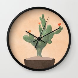 A Little Cactus Wall Clock