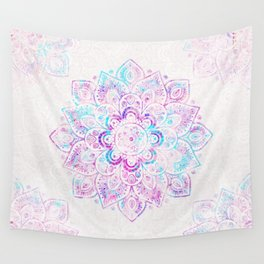 Winter Fiery Mandala Wall Tapestry