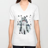 xmas V-neck T-shirts featuring ~Xmas by SOPHIA FREITAS