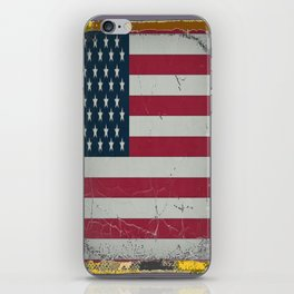 Grungy Vintage Antique American Flag Design  iPhone Skin