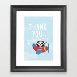 Panda says Thanks! Framed Art Print