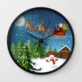Christmas Scene Wall Clock