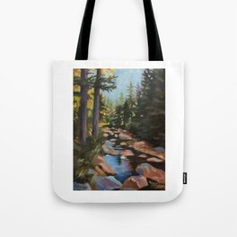 Hike to the Sugarloaves of New Hampshire - Acrylic Tote Bag