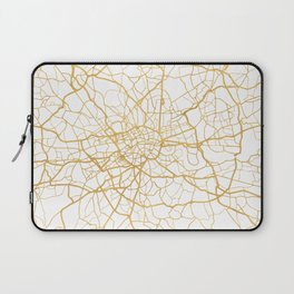 LONDON ENGLAND CITY STREET MAP ART Laptop Sleeve