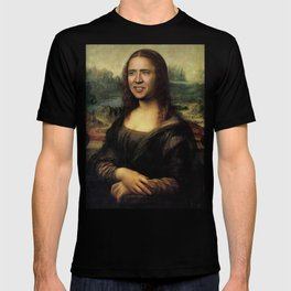 Nicholas Cage Mona Lisa face swap T-shirt