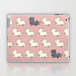 Proud cat pattern Pink Laptop & iPad Skin