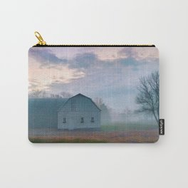 Foggy Morning Barn Carry-All Pouch