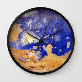 Blue Ruin Wall Clock