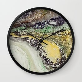 Weather cyclone, acrylic on canvas Wall Clock