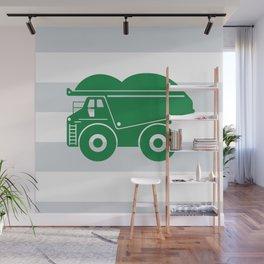 Green Dump Truck Wall Mural