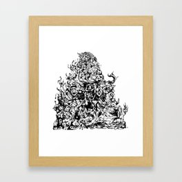 Abyssal insanity Framed Art Print