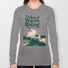 The Art of Wave Riding 1931, First Surfing Book Artwork, for Wall Art, Prints, Posters, Tshirts, Men, Women, Kids Long Sleeve T-shirt
