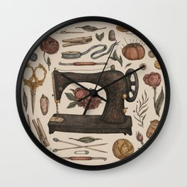Sewing Collection Wall Clock