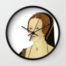Anne Bolyen - transparent BG Wall Clock