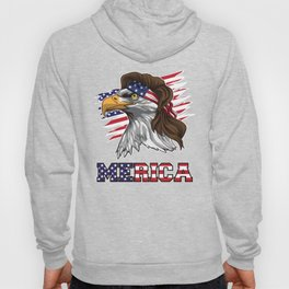 Patriotic Mullet Eagle | Independence Day July 4th Hoody