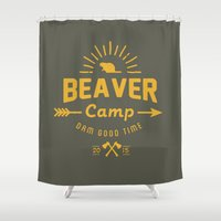 beaver Shower Curtains featuring Beaver Camp by Beaver Camp