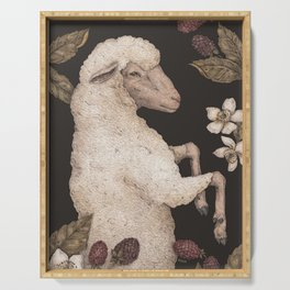 The Sheep and Blackberries Serving Tray