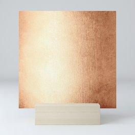 Simply Deep Bronze Amber Mini Art Print