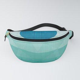 Emerald Ocean - Minimal Geometry Fanny Pack