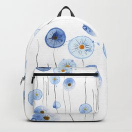 blue abstract dandelion 2 Backpack
