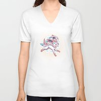 sylveon V-neck T-shirts featuring Sylveon  by Lara Frizzell