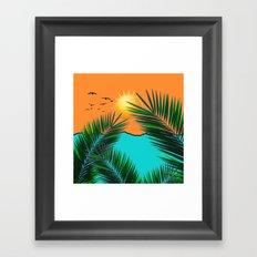 Palm in the sun Framed Art Print