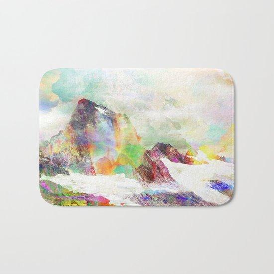 Glitch Mountain Bath Mat